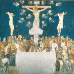 Pietro Lorenzetti (c. 1280 - 1348)  Assisi Frescoes: Crucifixion  Fresco, about 1320  ower Basilica, San Francesco, southern transept, Assisi, Italy